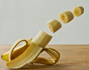 切られたバナナ