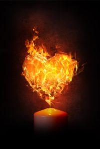 ハートの炎