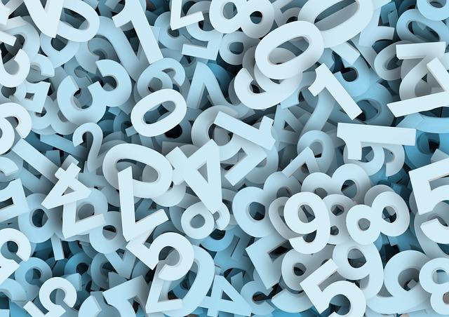 色々な数字