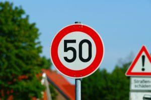 50キロの制限速度