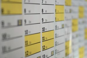 カレンダーの日付