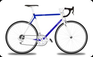 レース用の自転車