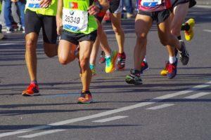 マラソンの足元