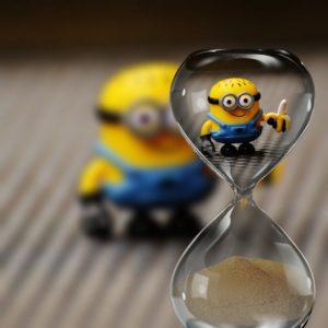 ミニオンと砂時計