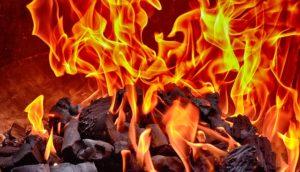 燃えている炎