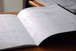 手帳とスケジュール