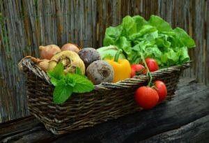 野菜のバスケット