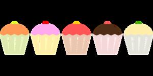 5つのカップケーキ