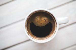 上からのコーヒー