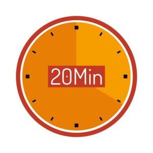 20分の時計