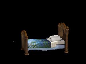 ぽつんとしたベッド