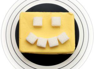 バターと砂糖の顔
