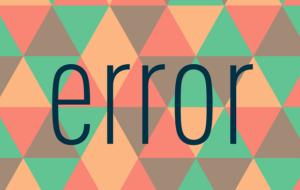 errorという文字