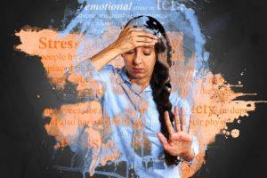 ストレスがかかる女性