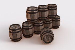 たくさんの樽