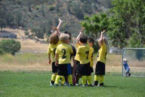 子どもたちのサッカー