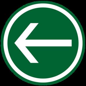 左向けの矢印