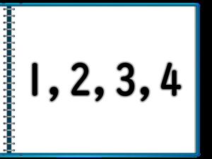 1~4の数字