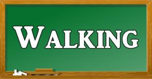 walkingと言う文字