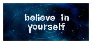 believe in yourselfの文字