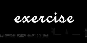エクササイズの文字
