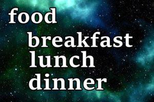 英語で食事の文字