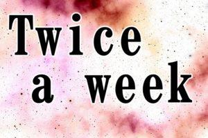 Twice a wwekの文字