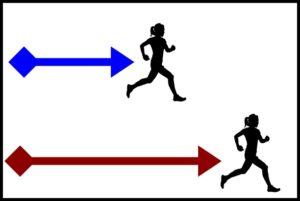 走る距離の違い