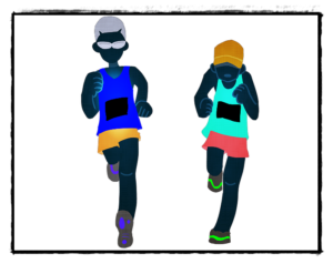 マラソンの絵
