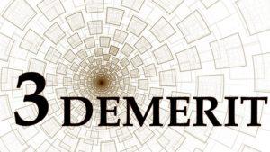 英語で「3DEMERIT]の文字