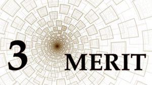 英語で「3MERIT」の文字