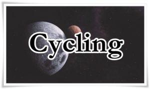 サイクリングの文字