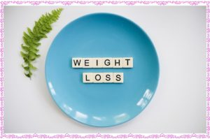 weight lossの文字