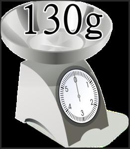 130gの測り