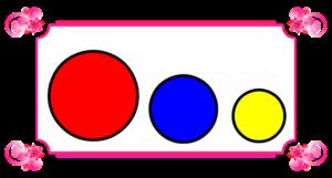 3つの丸の比較
