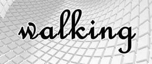 walkingの文字