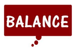 BALANCEの文字