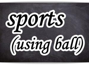 黒板に書いたスポーツの文字