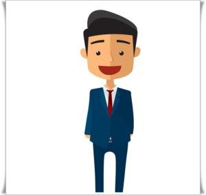 ビジネスマンの笑顔の絵