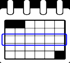 カレンダー 1週間の表示