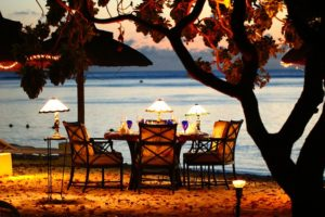 海辺のディナー