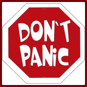 Don't panicの文字