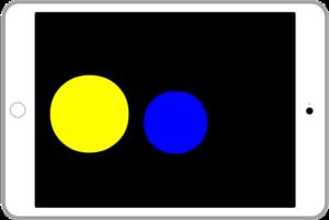アイパッドに左側2つの〇