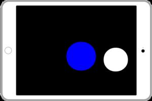 アイパッドに右側の2つの〇