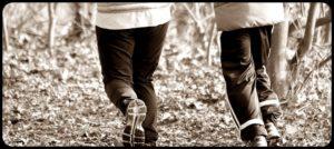 ジョギングの服と靴