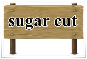 sugar cutの文字の看板