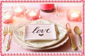 loveと書かれた食事