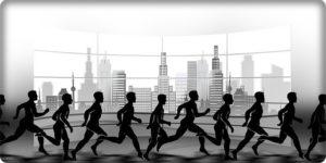 マラソンのシルエット
