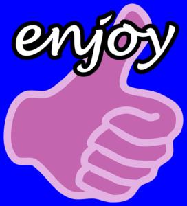 親指とenjoyの文字