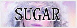 少女の目とSUGARの文字